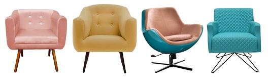 Cadeiras e poltronas Mobly1 - Cadeiras e poltronas dão um UP em qualquer espaço