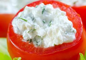 Tomate cereja Recheado com Gorgonzola - Receitas light com tomate do Vigilantes do Peso