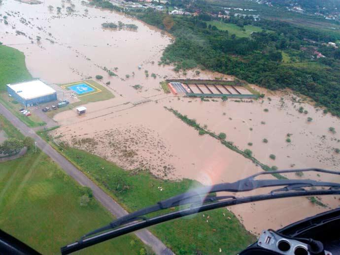 alagamento sc - Fortes chuvas causam três mortes em Santa Catarina