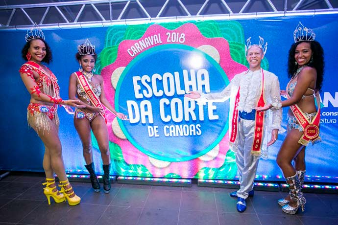 corte carnaval canoas - Eleita a corte do Carnaval de Canoas