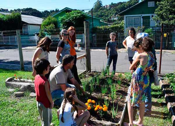horta gramado - Projeto Sapeca conhece a Horta Comunitária em Gramado