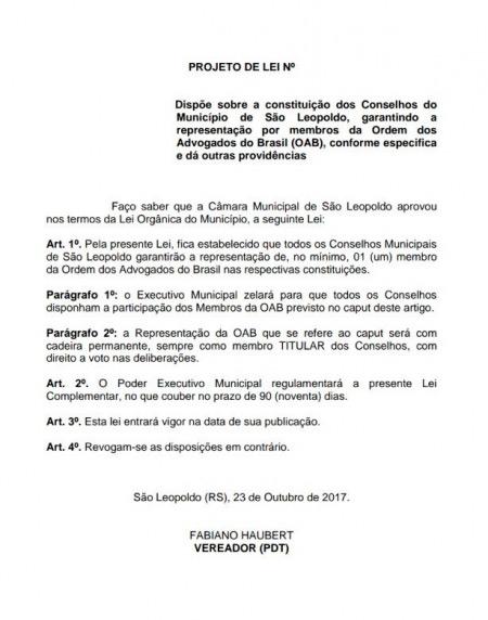 oab sl 2 - OAB São Leopoldo terá participação permanente nos conselhos municipais