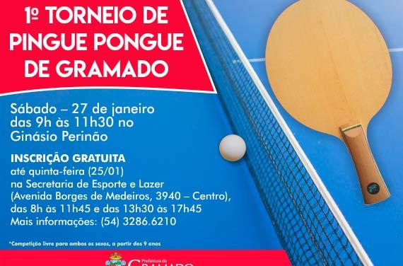 pinge pongue gramado - Torneio de pingue-pongue em Gramado