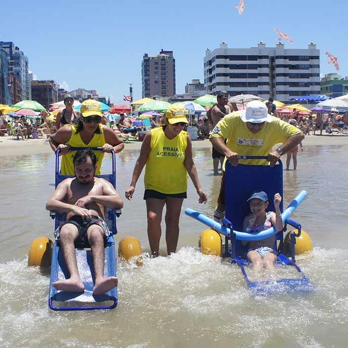 praia acessivel - Praia Acessível neste sábado (20) em Capão da Canoa