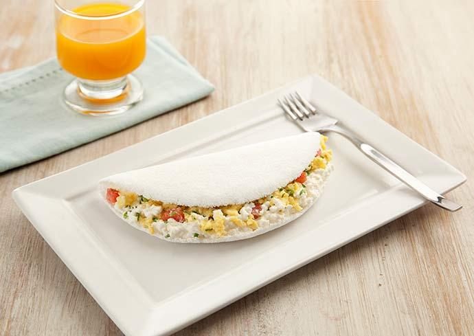 tapioca cottage ovos mexidos divulgação - Duas receitas de tapiocas leves e práticas