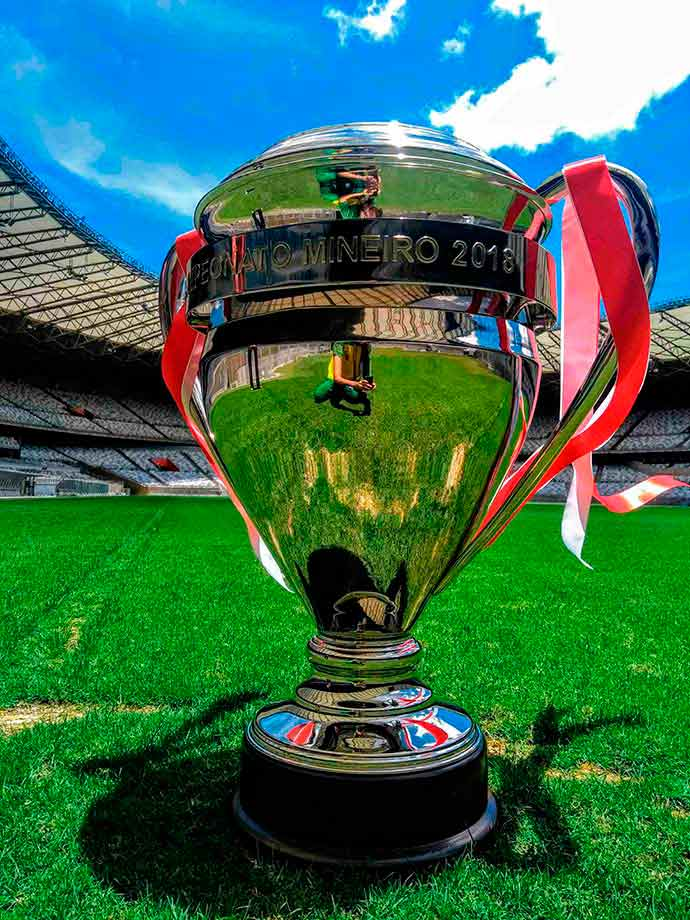 troféu de Campeão Mineiro será exposto no Mineirão1 - Troféu de Campeão Mineiro será exposto no Mineirão