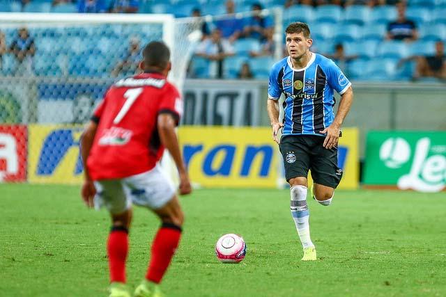 Gremio vence Brasil Pel na Arena 3 - Jogando na Arena, Grêmio derrota o Brasil de Pelotas