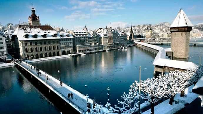 Ponte da Capela - Turismo em Lucerna, Suíça