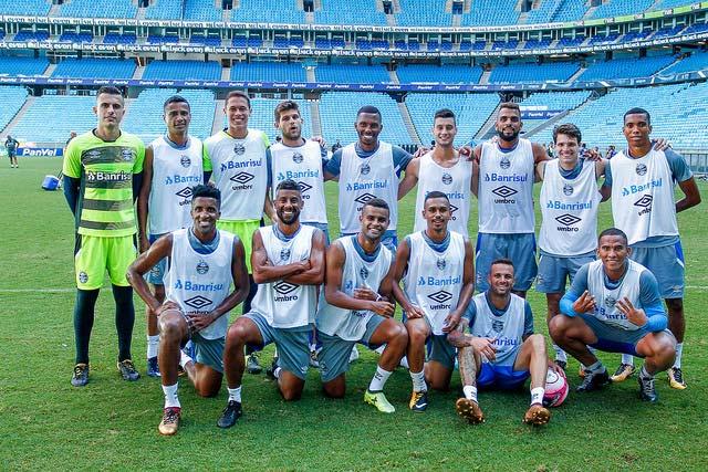 Treino do Grêmio em Porto Alegre 2 - Grêmio busca primeira vitória no Campeonato Estadual