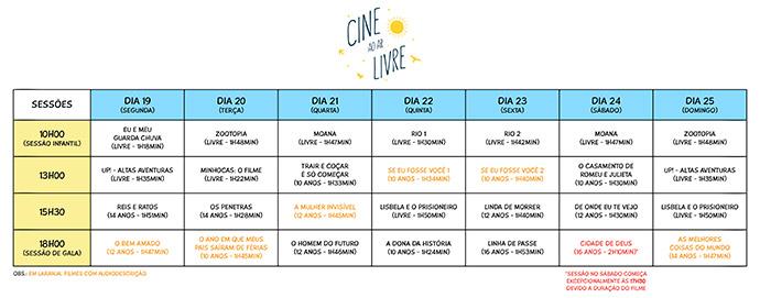 programação São Paulo recebe primeiro evento Cinema ao Ar Livre - Cinema ao Ar Livre em São paulo dia 19/02