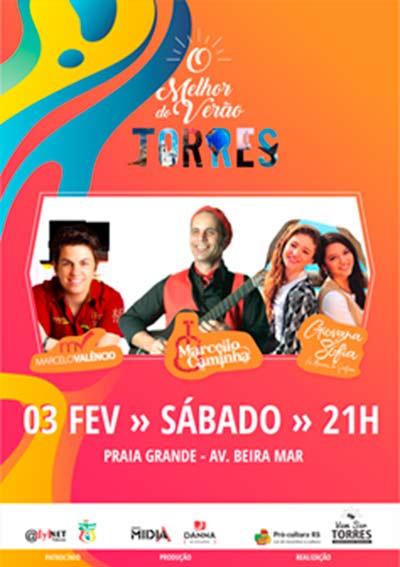 show torres - Show musical em Torres neste sábado