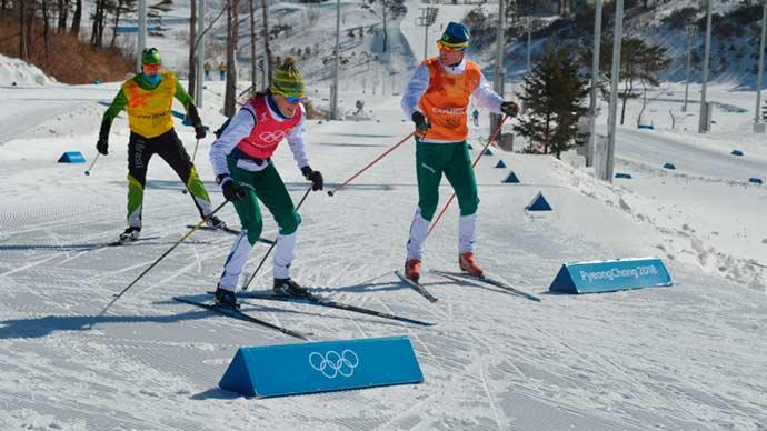 time brasil coreia - Atletas brasileiros do cross country treinam para as provas em PyeongChang