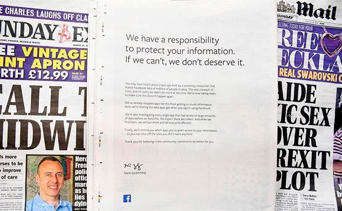 Anúncio do Facebook  700x432 - Facebook volta a pedir desculpas por uso indevido de perfis