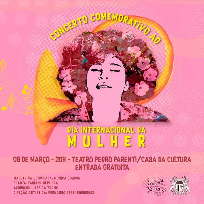 Dia da Mulher Caxias do Sul RS - Orquestra Municipal de Sopros homenageia mulheres em Caxias do Sul