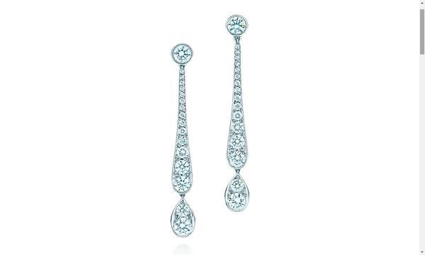 agatha usa tiffany co  brincos jazz gota em platina e diamantes web  - Atrizes da novela Orgulho e Paixão usam Tiffany & Co.