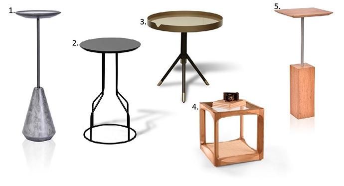 mesas - Mesa lateral com design assinado
