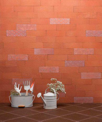 Bricks desenhados terracota 390x468 - Lepri Cerâmicas apresenta tendências que inspiraram sua coleção 2018