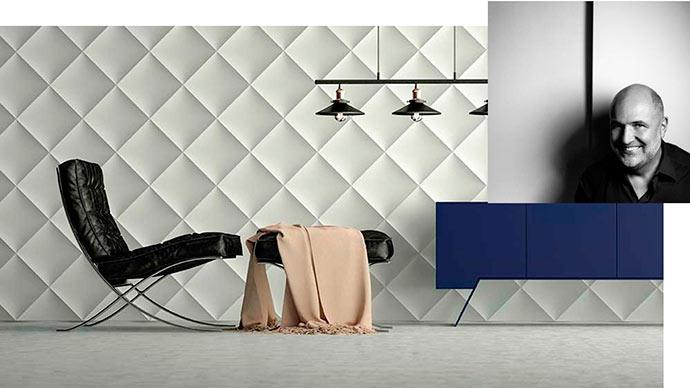 Linha 3D Tile Dieedro by Jayme Bernardo - Revestimentos assinados que são destaque no décor
