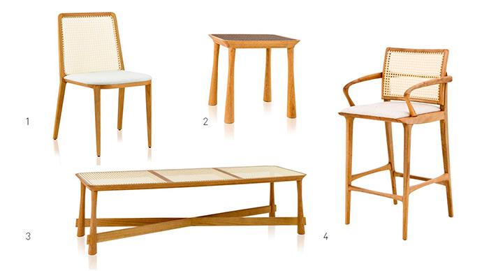 clami - Clami apresenta móveis em palhinha com traços modernos