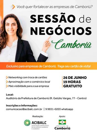 flyer 2 341x468 - Acibalc promove rodada de negócios em Camboriú nesta terça-feira, 26/06