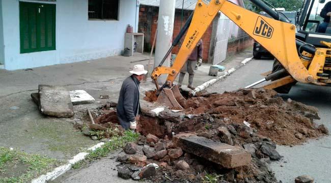 Obras em Novo Hamburgo 2018 - Equipe do BID visita obras de revitalização do Centro de Novo Hamburgo