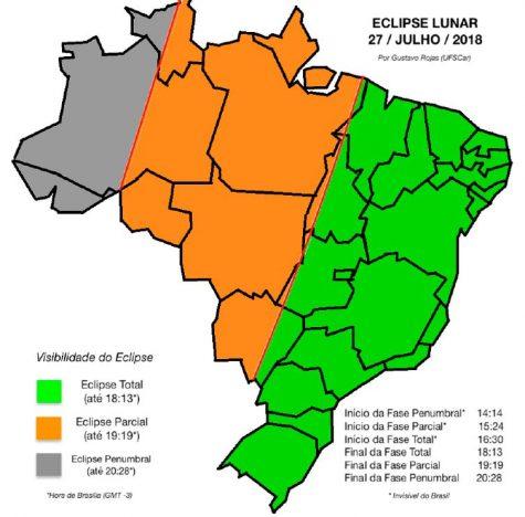 eclipse lunar 475x468 - Lua de Sangue: Eclipse total da Lua ocorre hoje
