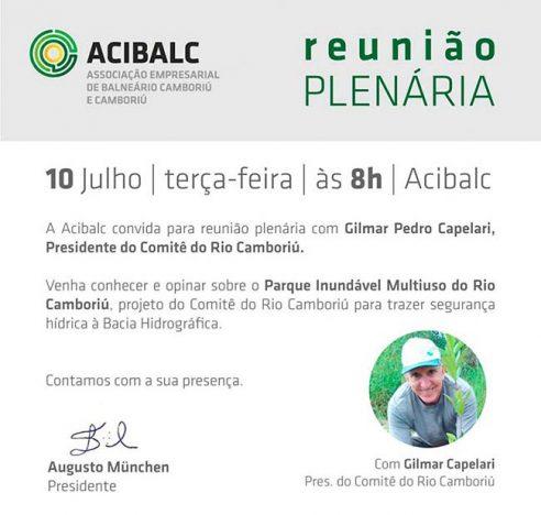 plenária 492x468 - Acibalc promove plenária sobre o Parque Inundável na próxima terça-feira