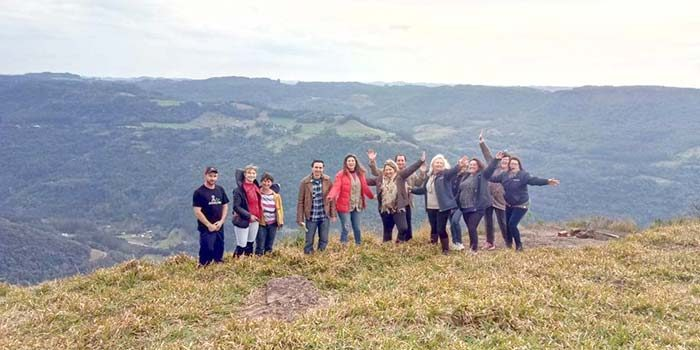 Grupo participante do 3º módulo do curso de turismo rural