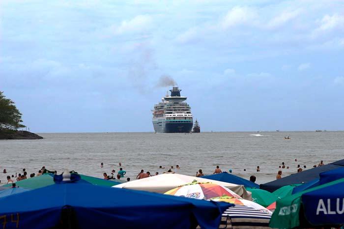 BC sábado 20 de janeiro Geovan Maciel 3 - Sábado de transatlântico, praia cheia e programação cultural intensa em Balneário Camboriú