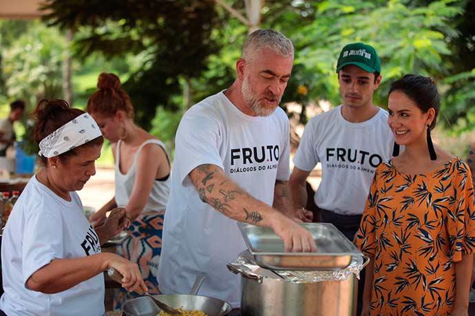 Chef Ilma Veras do Piauí e Alex Atala 5 - Alex Atala e Felipe Ribenboim reúnem convidados na Fazenda Santa Julieta Bio