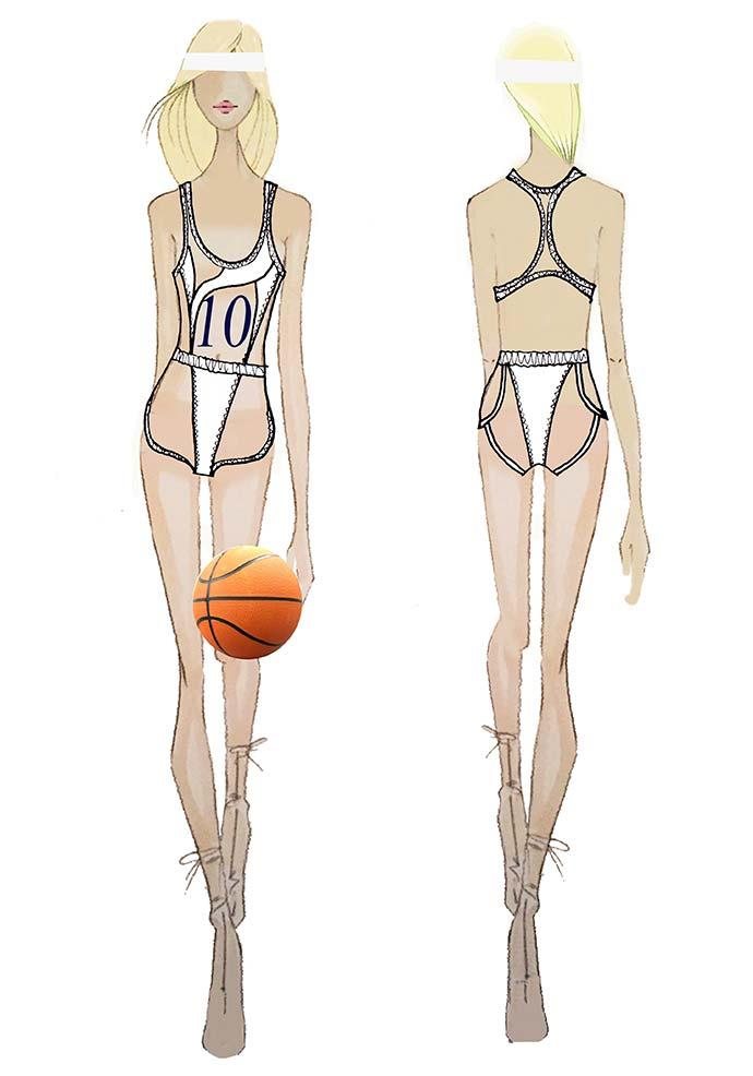 Croqui figurino basquete de Claudia Leitte por Patricia Bonaldi - Patrícia Bonaldi assina figurino de Carnaval de Claudia Leitte