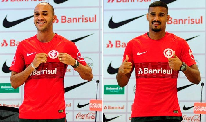 Dudu GabrilDias no Internacional - Dudu e Gabriel Dias são apresentados pelo Inter