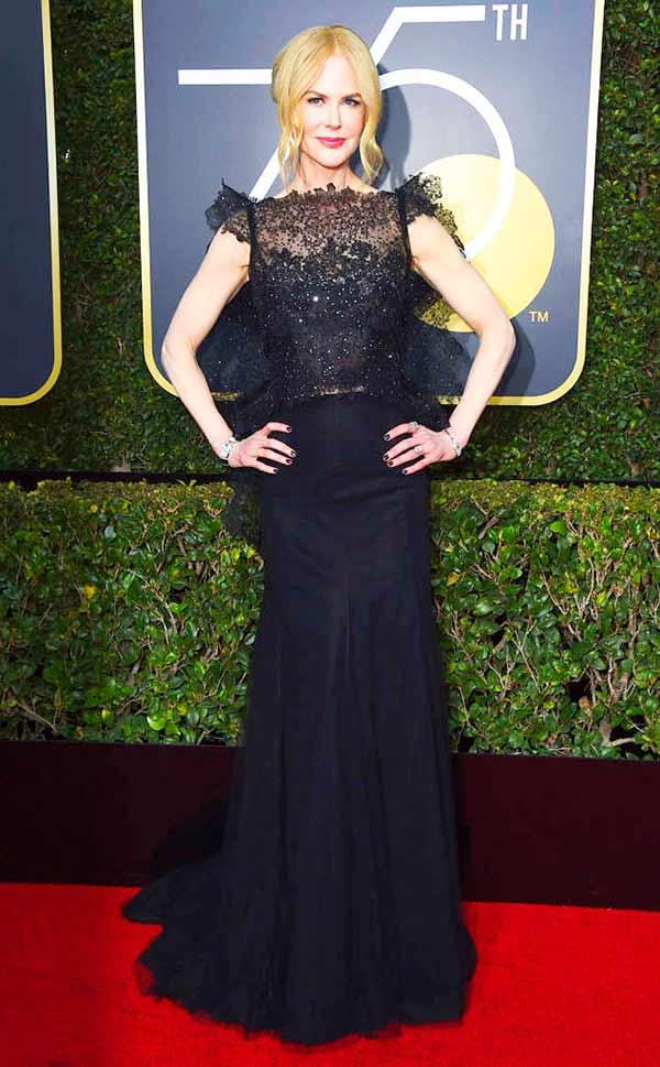 Nicole Kidman - Pétalas apresenta os tecidos que cruzaram do Globo de Ouro