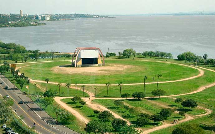 anfiteatro por do sol porto alegre - Definida área para manifestação durante julgamento de Lula