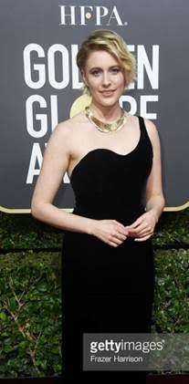 greta gerwin web  - Celebridades usam joias Tiffany no 75º Globo de Ouro