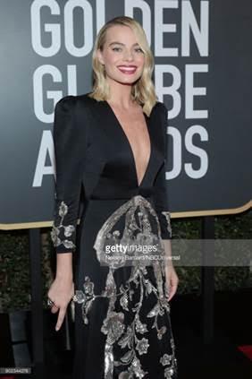margot robbie web  - Celebridades usam joias Tiffany no 75º Globo de Ouro