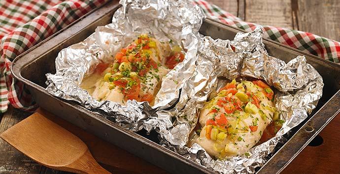 pacotes de frango com alho poro becel - Receita - Pacotes de frango com alho-poró