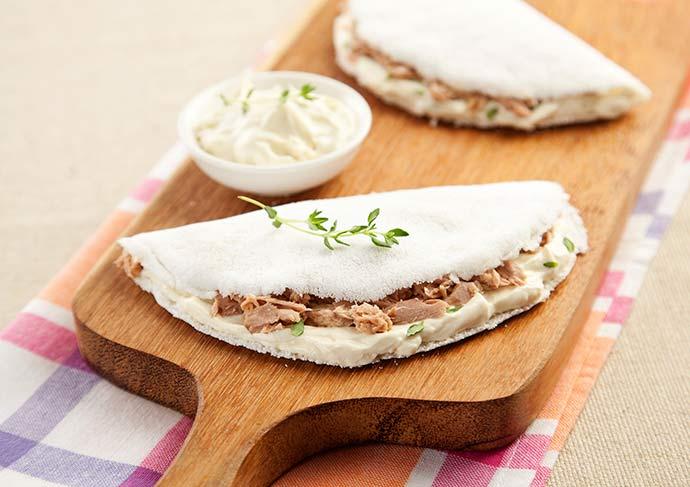 tapioca creme ricota atum divulgação - Duas receitas de tapiocas leves e práticas