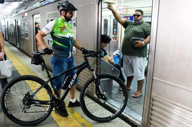 transporte de bicicletas no trem - Programa Ciclista Trensurb completa 10 anos