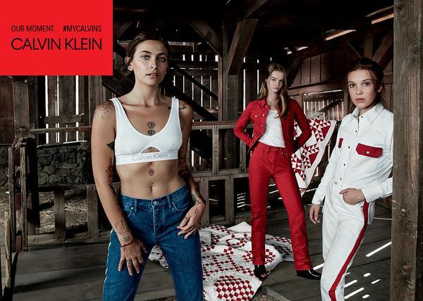 Revista News Calvin-Klein-Jeans-e-Calvin-Klein-Underwear-5 CALVIN KLEIN JEANS: Campanha global apresenta Millie Bobby Brown, Paris Jackson e Lulu Tenney