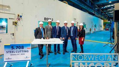Cerimônia marca início da construção do Norwegian Encore1 390x220 - Cerimônia marca início da construção do Norwegian Encore