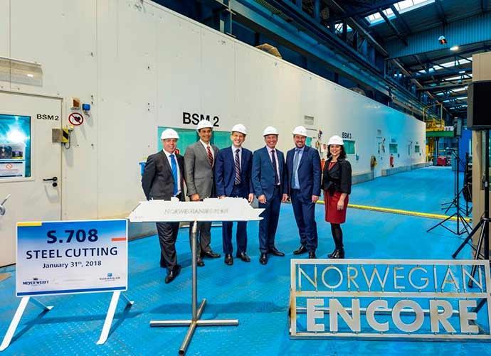 Cerimônia marca início da construção do Norwegian Encore1 - Cerimônia marca início da construção do Norwegian Encore