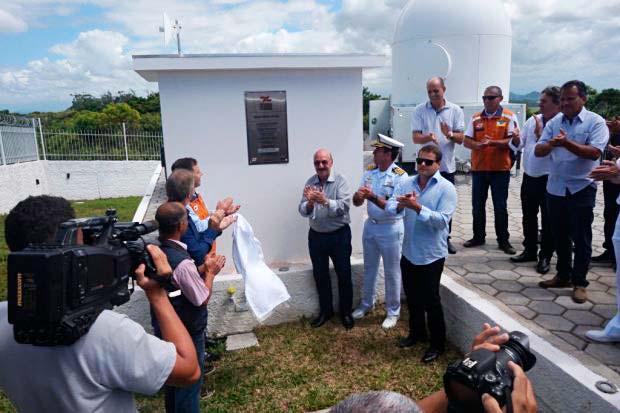 Defesa Civil Estadual inaugurou equipamento em Araranguá no Sul do Estado - SC passa a ter 100% de cobertura por Radar Meteorológico