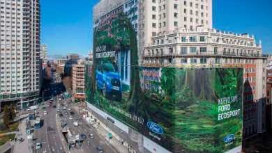 Ford EcoSport Guiness World Record largest billboard 1 390x220 - Ford Ecosport ganha o maior outdoor do mundo em Madri, na Espanha