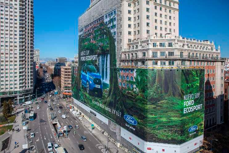 Ford EcoSport Guiness World Record largest billboard 1 - Ford Ecosport ganha o maior outdoor do mundo em Madri, na Espanha