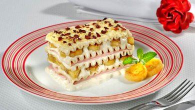 Lasanha de Queijo com Bananas Carameladas 390x220 - Receita - Lasanha de Queijo com Bananas Carameladas