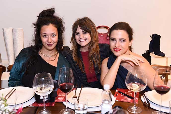 Mariana Stabile Georgia Reines e Catrina Kowarick 2 - Schutz lança coleção de Inverno 18 com jantar exclusivo e experiência sensorial
