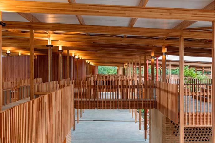 Moradias Infantis - 16ª Bienal Internacional de Arquitetura de Veneza tem dois projetos em madeira do Brasil
