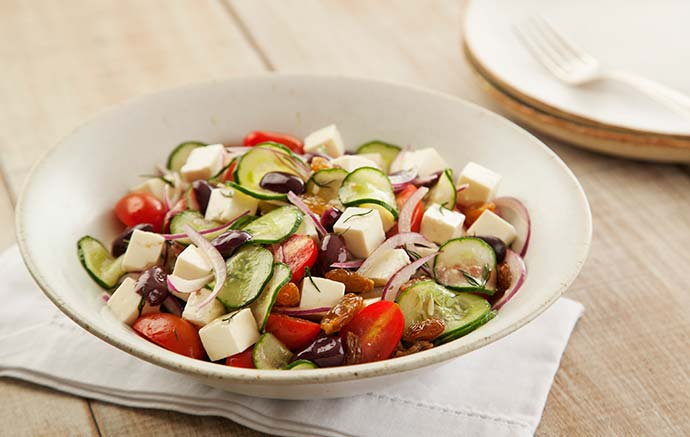 Salada Grega Tirolez - Receita leve para o Carnaval - Salada Grega