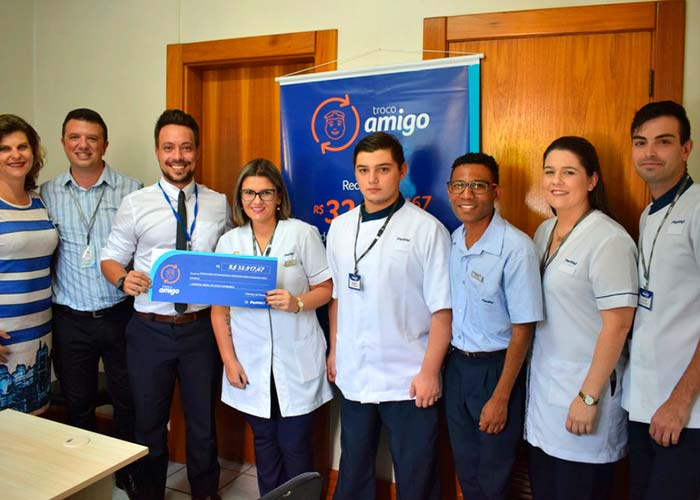 Troco Amigo - Hospital Municipal recebe verba do Troco Amigo da Panvel